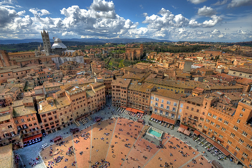 The colorful city of Siena
