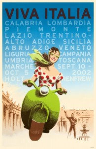 ITALY travel poster