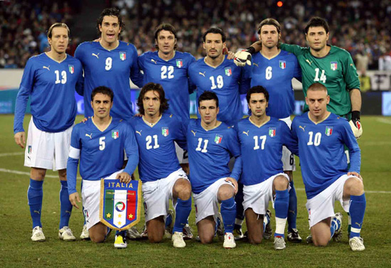 Italian Soccer Team preparing for the world cup