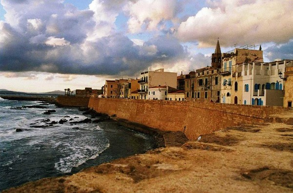 16th century walls, in Alghero, Sardinia, in off the beaten path Italy.