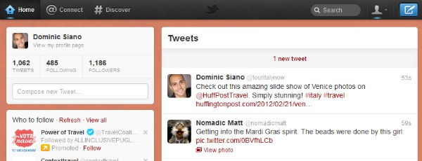 A screenshot of a recent tweet from Tour Italy Now founder and president Dominic Siano.