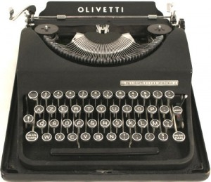 A 1949 Olivetti typewriter