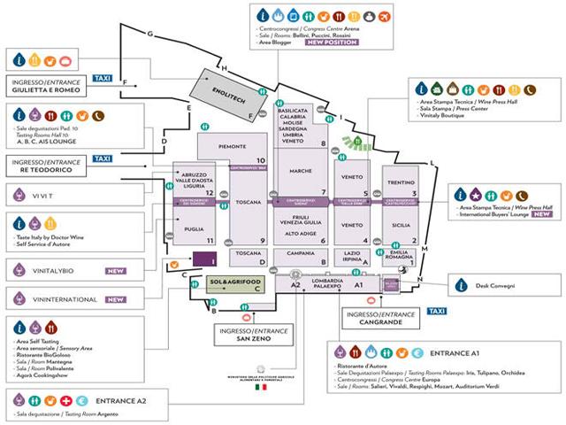 Vinitaly 2014 map
