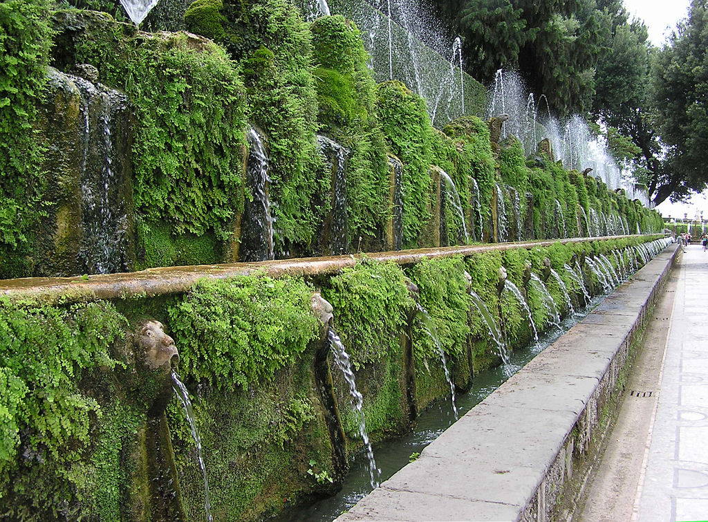 Avenue of One Hundred Fountains, Villa d'Este, Tivoli Gardens, Italy