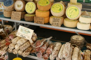 Cheese and Salame meat italy