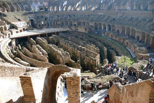 underground chambers, Colosseum, Rome