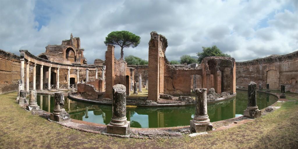 Maritime Theater, Villa Adriana, Hadrian's Villa, Tivoli Italy