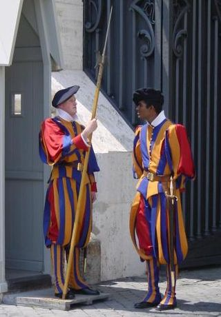 Vatican City Italy Swiss Guards