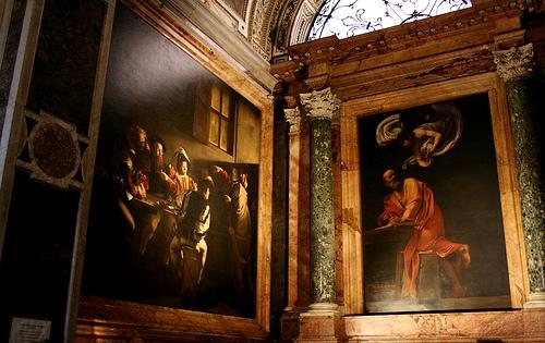 Rome Italy San Luigi dei francesi Contarelli Chapel Caravaggio Saint Matthew