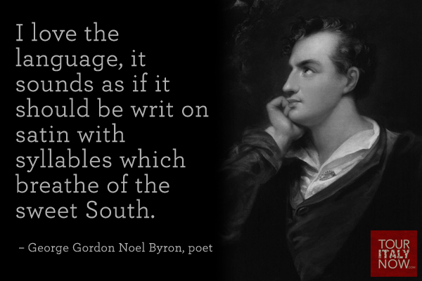 italy quote George Gordon Byron