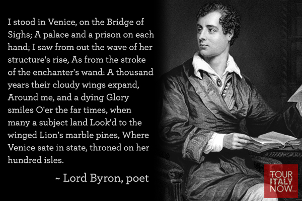 Italy quotes Lord Byron