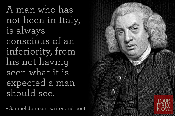 Italy quote Samuel Johnson