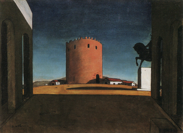The_Red_Tower Giorgio de Chirico