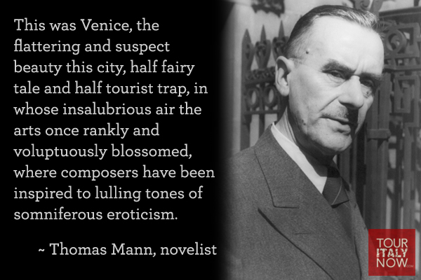 Italy quotes Thomas Mann