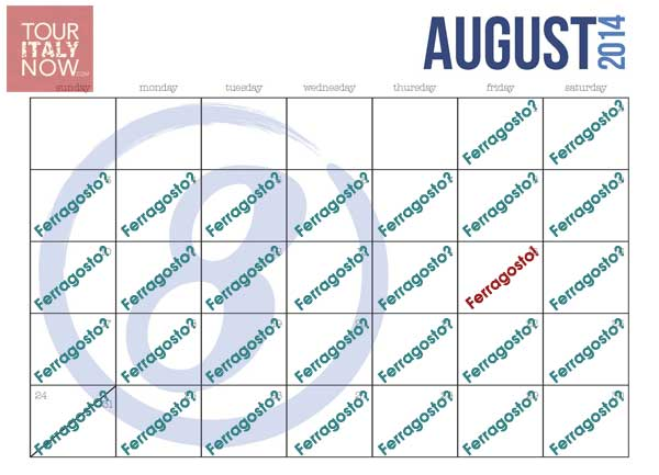 august calendar ferragosto