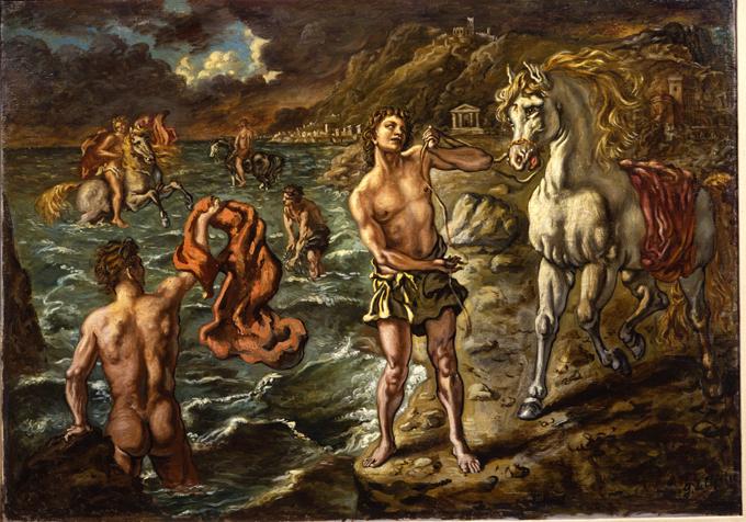 ippolito-con-i-suoi-compagni-Giorgio de Chirico