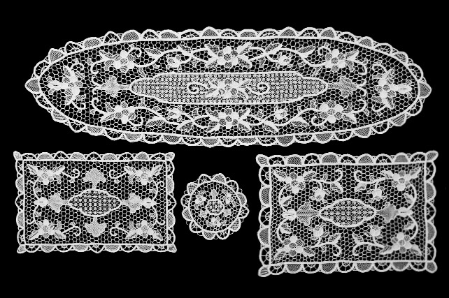 burano venice italy - lace samples