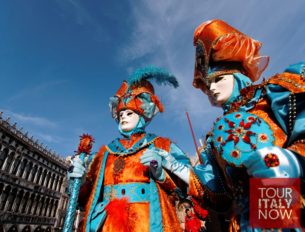 carnevale venice italy - festive mask and costume