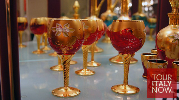 murano venice italy - glass tableware