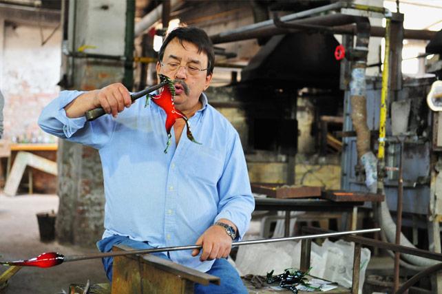 murano venice italy - glassblower