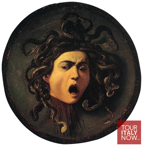 uffizi gallery museum florence italy - medusa Carvaggio