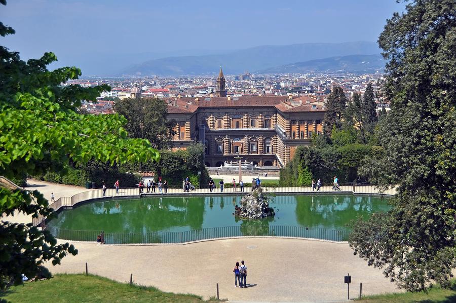 Pitti Palace And Boboli Gardens, Florence Italy