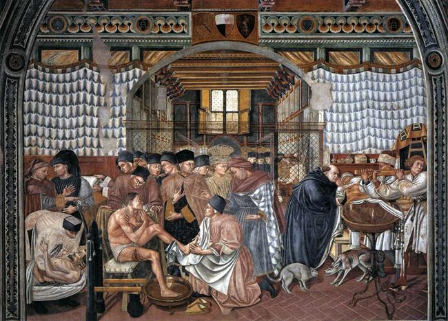 siena-italy-travel-guide-santa-maria-della-scala-Domenico_di_Bartolo-pilgrims-fresco