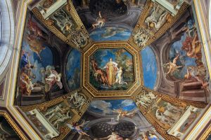 Apollo and the Muses on the ceiling of the Vatican Museums