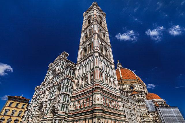 Florence Basilica di Santa Maria del Fiore and Giotto Campanile