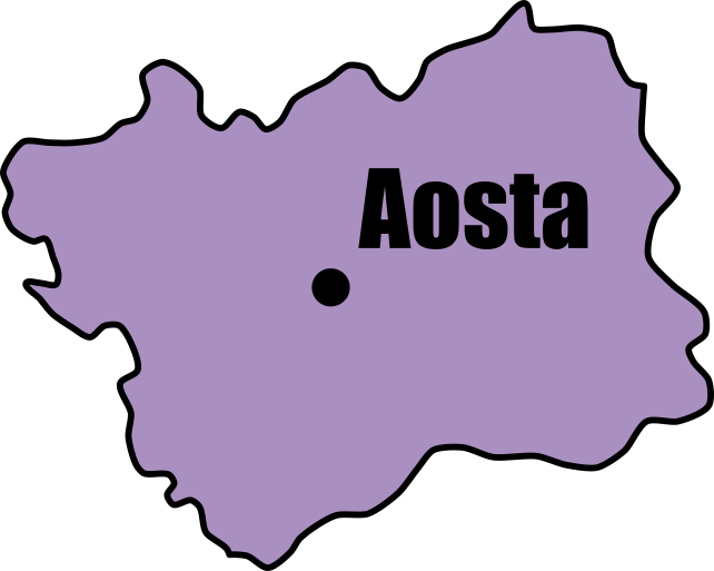 Aosta Valley Map | Tour Italy Now