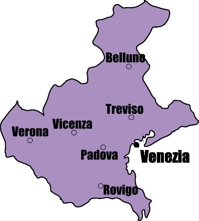 Veneto Map | Tour Italy Now
