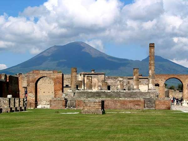Temple of Jupiter with Vesuvius