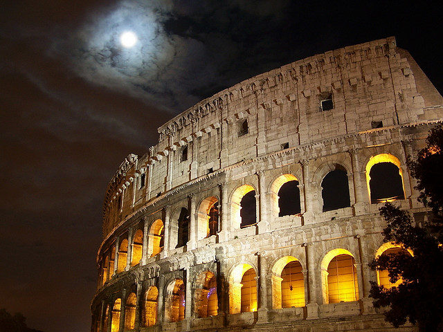 Full Moon Over the Colloseum, Rome, Italy