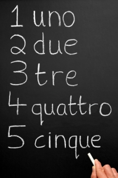 Let's start at the very begin, learning to count in Italian.
