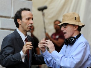 Woody Allen & Roberto Benigni [PHOTO: TIZIANA FABI/AFP/Getty Images]