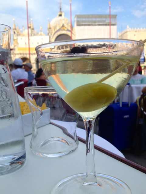 martini at quaddri cafe Venice