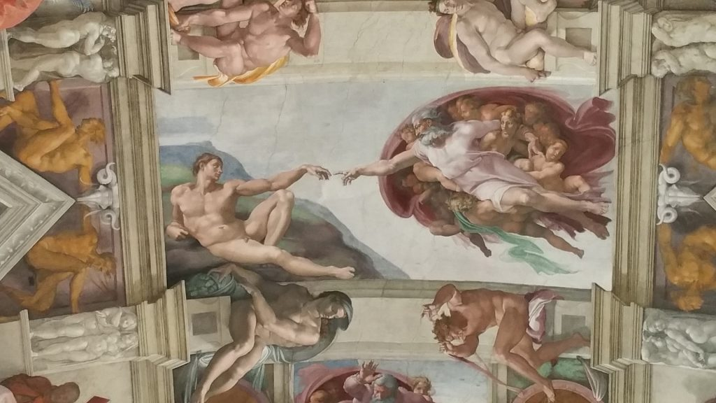 The Sistine Chapel ceiling's most famous panel