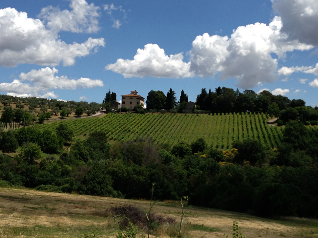 The view from Colle San Paolo Villa Fontanelle