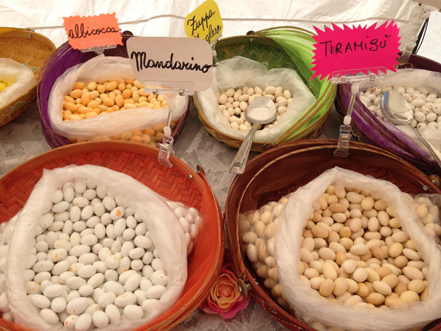 Candied almonds at the Infiorata festival