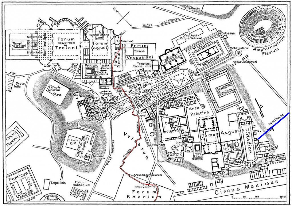 Roman Forum vicinity map