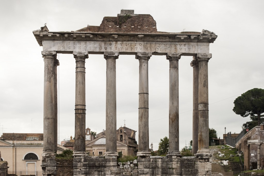 Temple of Saturn, Roman Forum, Rome, Italy