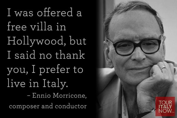 Italy quote Ennio Morricone
