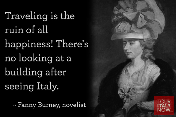 Italy Quotes Fanny Burney
