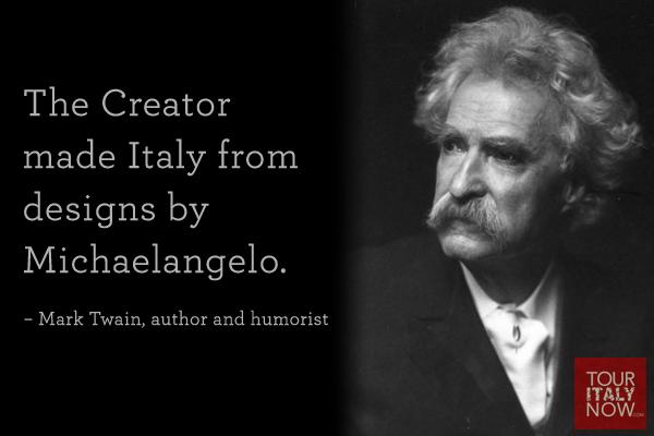 Italy quote Mark Twain