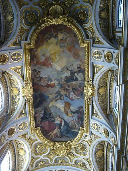 San Luigi dei Francesi rome italy natoire fresco ceiling
