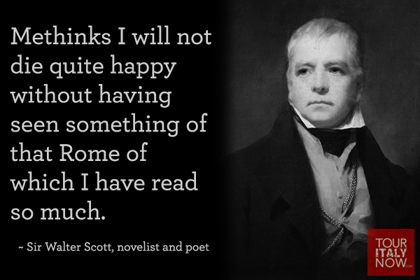 Italy quotes Sir Walter Scott