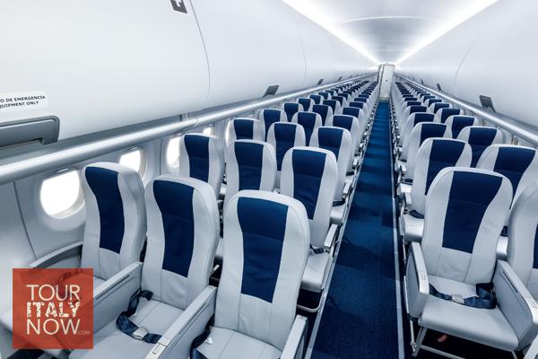 Empty italy flight