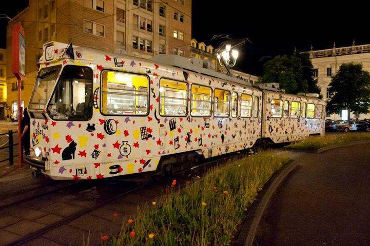 Turin chocolate festival tram