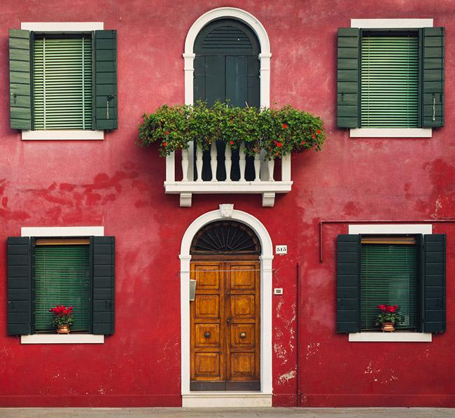 Burano Venice Italy - house
