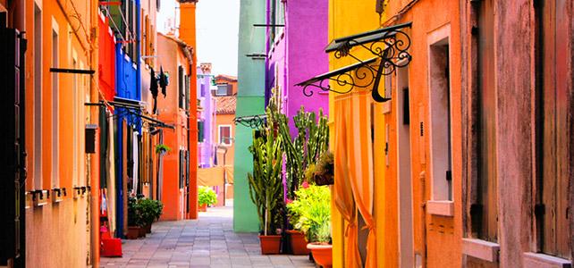 Burano Venice Italy - street view